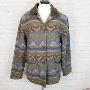 Wookrich|Southwest Aztec/Western Blanket Coat